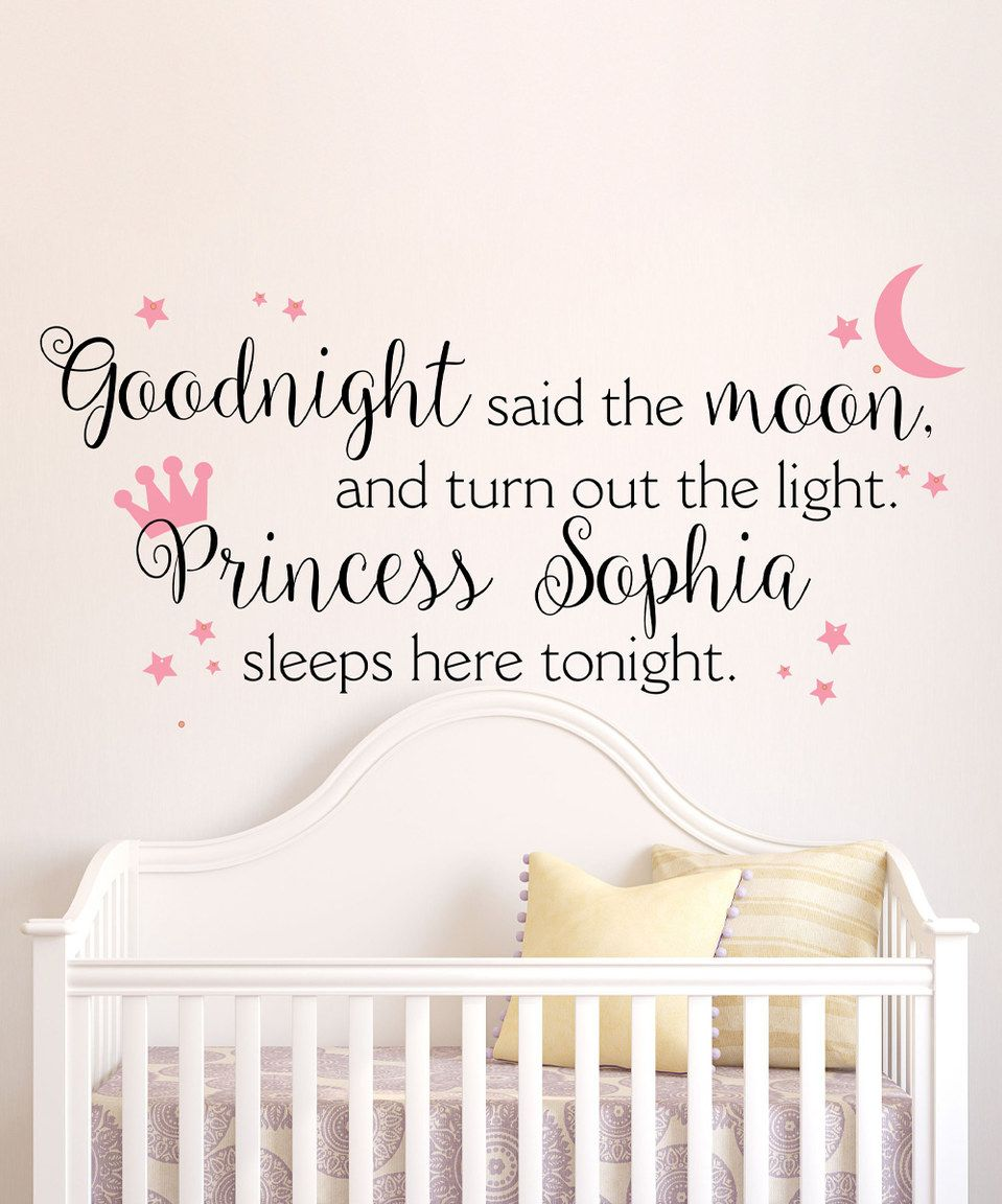 Love This Goodnight Said The Moon Personalized Decal By Lollipop