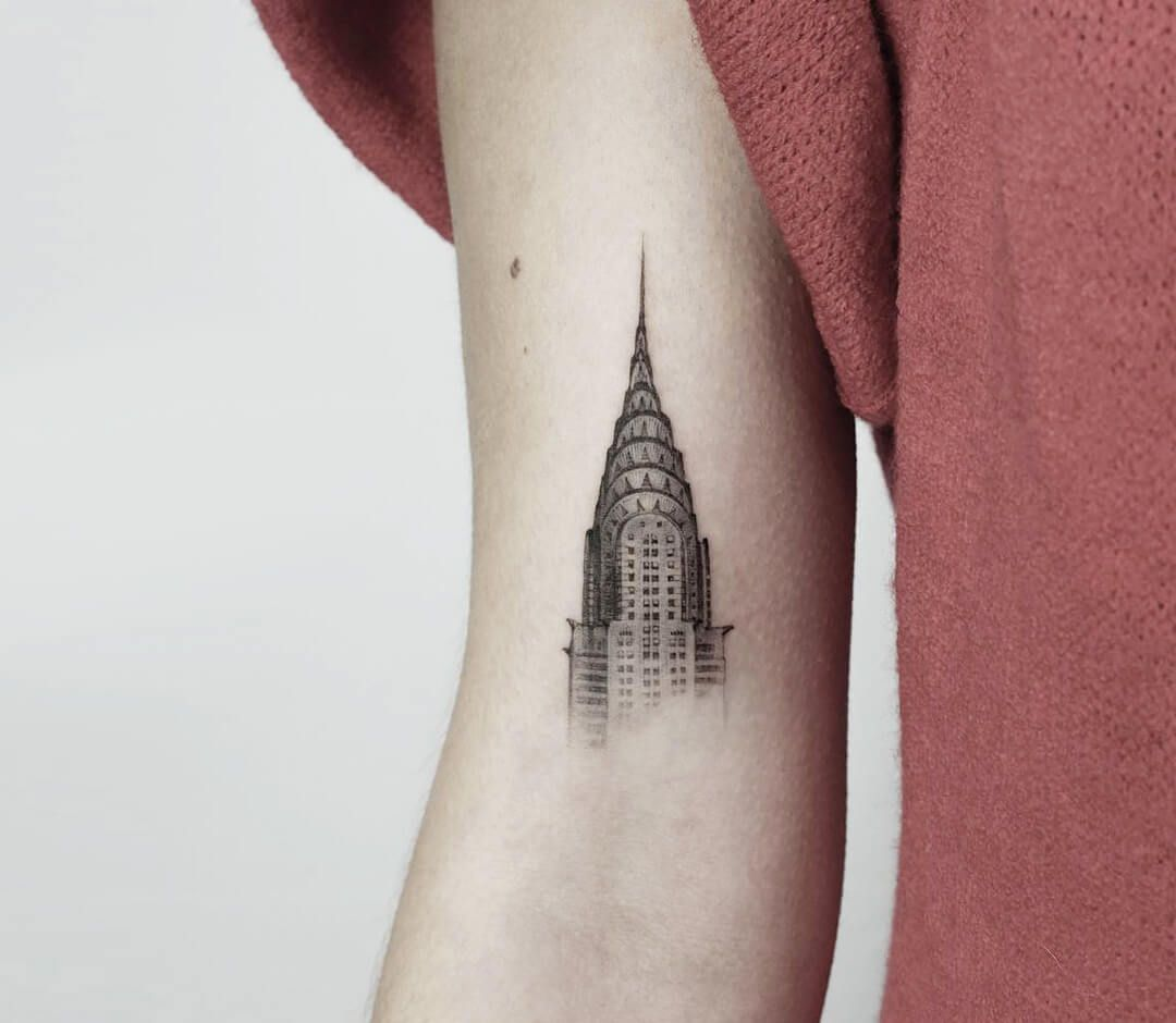 Photo Chrysler Building Tattoo By Daniel Berdiel Building