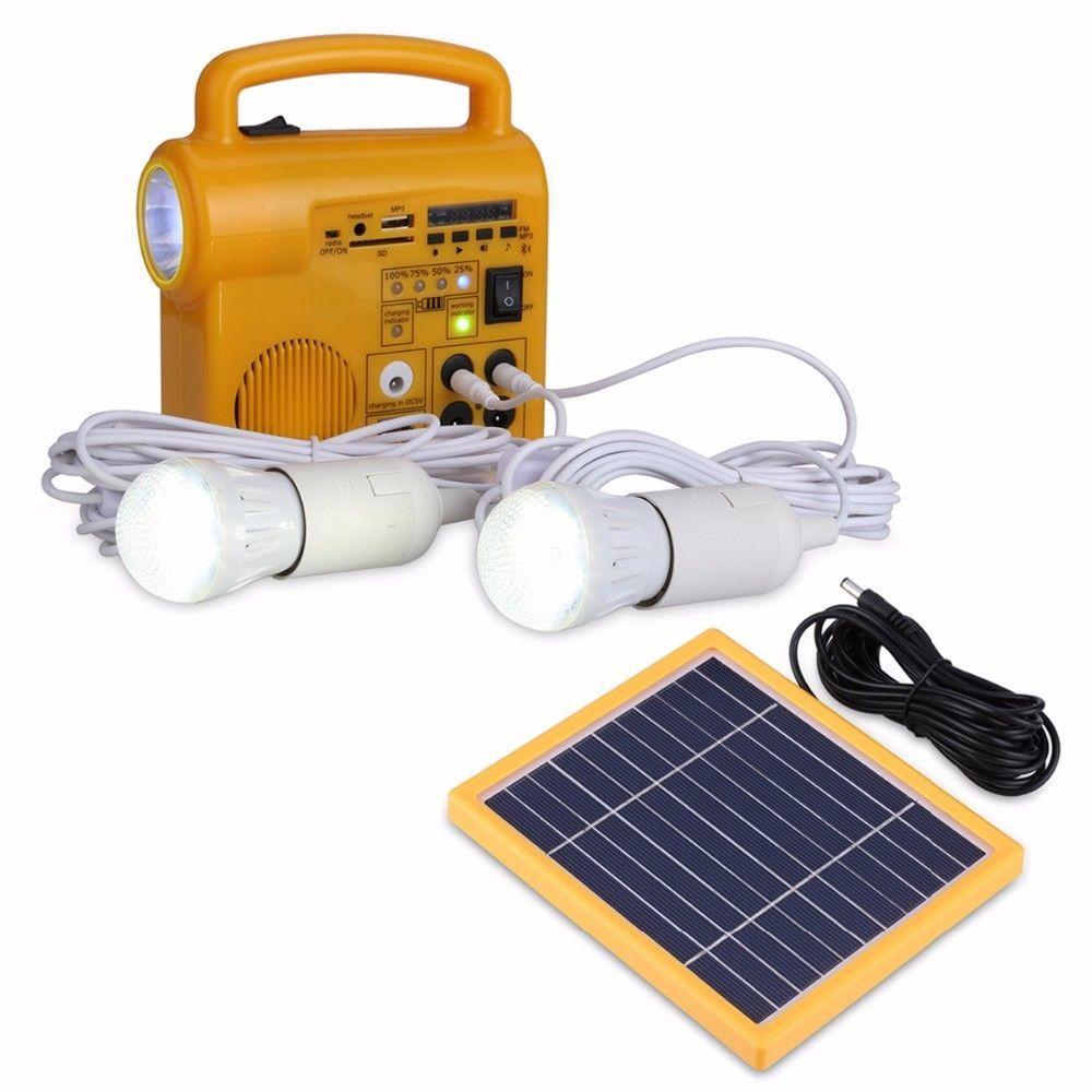S-TROUBLE Linternas port/átiles Solar LED Luz de Camping para Tienda de campa/ña al Aire Libre Luces de Emergencia Bombilla Recargable USB Uso en el hogar 5gears