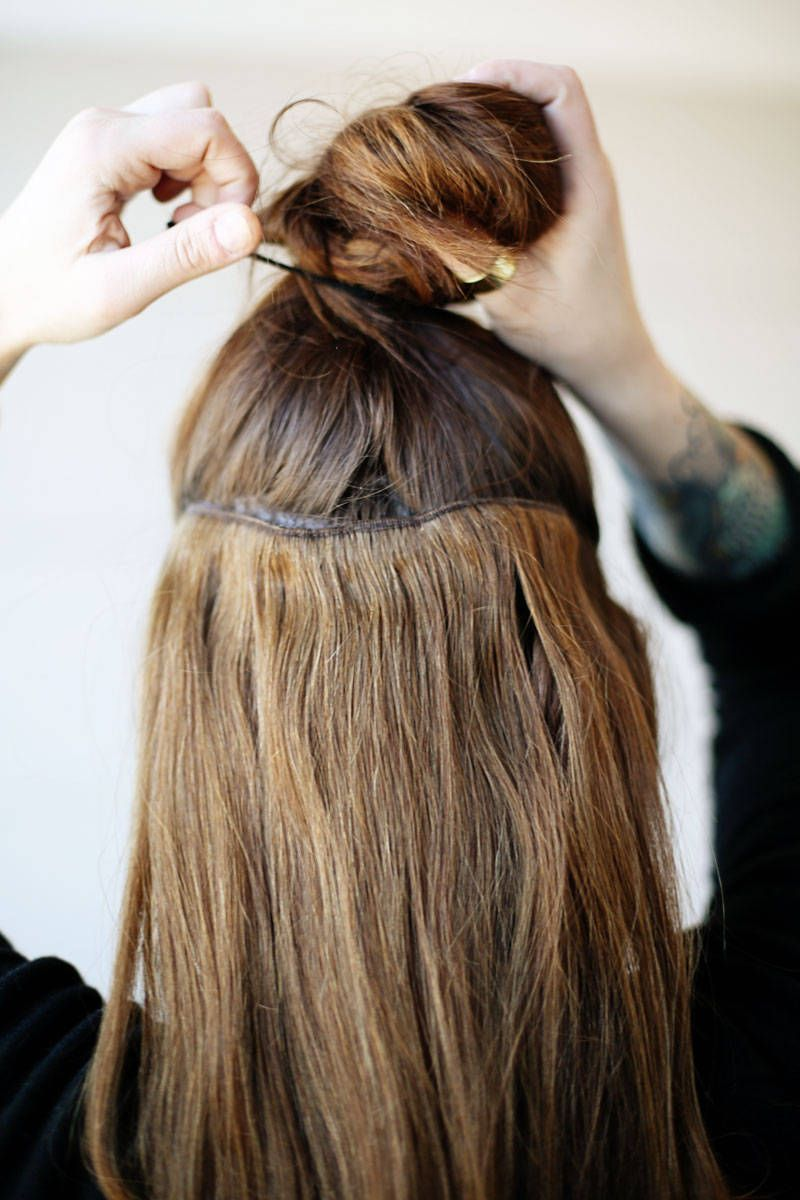 Best Clip In Hair Extensions How To Apply Hair Extensions Elle