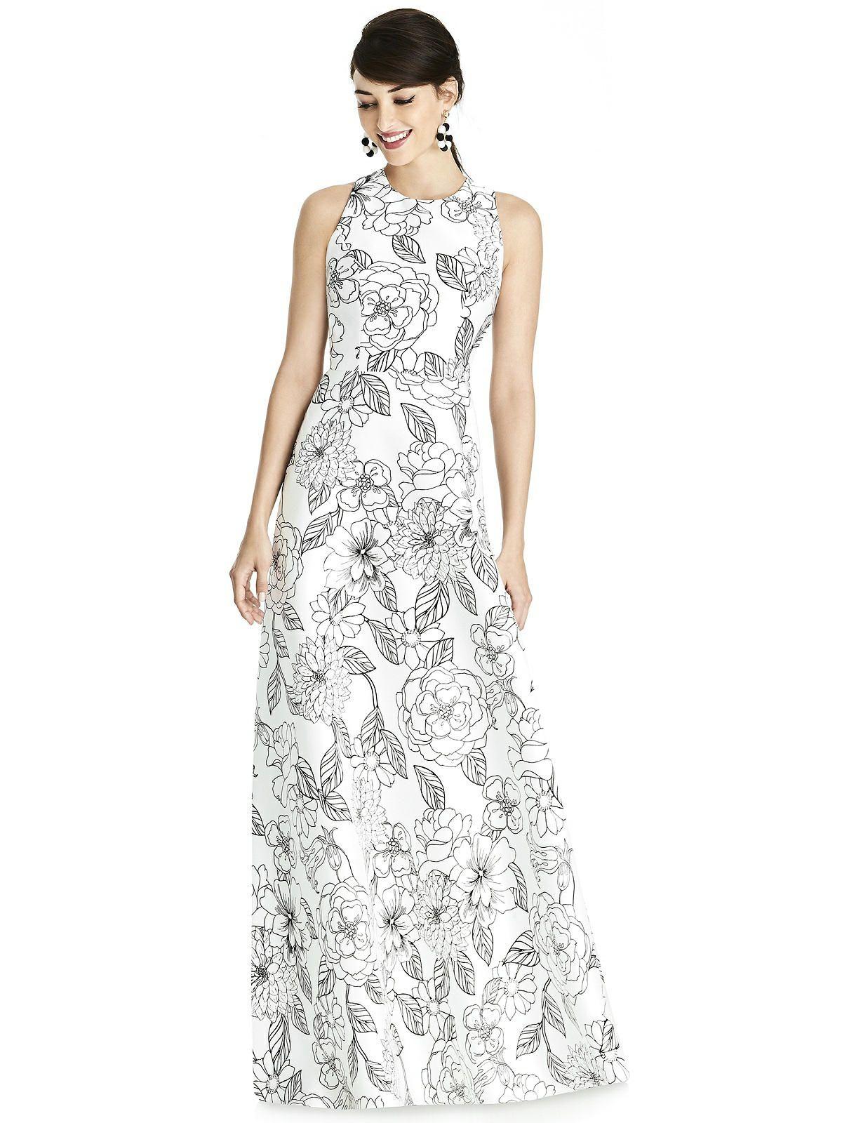 5de7f68f3 Alfred Sung D746fp - Sateen Twill Bridesmaid Dress In Botanica in ...