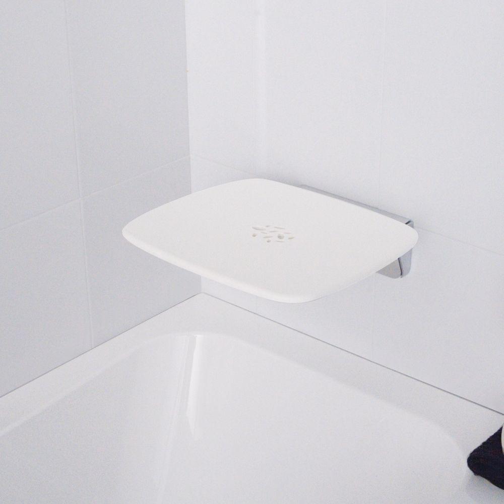 Contemporary Shower Seat White | My Bathroom | Pinterest | Shower ...