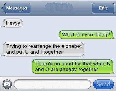 16 Funny Text Messages (4.25.12)