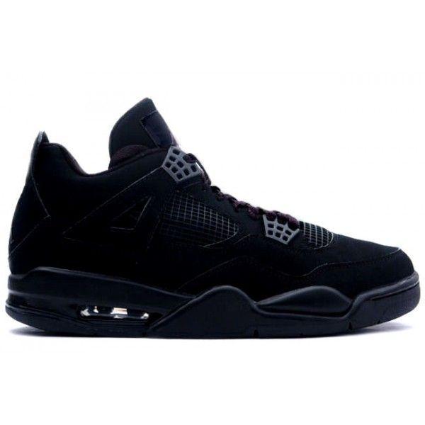 Nike Air Jordan 4 Black Cat Black Black 308497 002 Mens Basketball Shoes