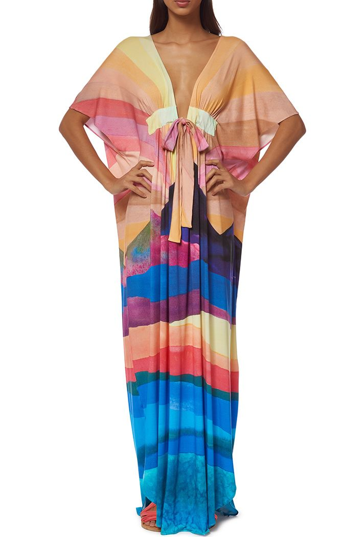 cc8a6f41aa937 Browse the Best Beachwear for Summer | Swimsuit Cover Ups for Swim Week  2016 | colorful striped dashiki by @marahoffman