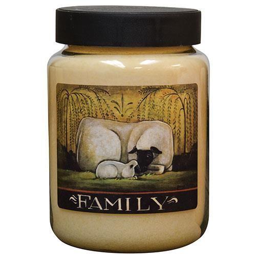 *Sheep Family Jar Candle