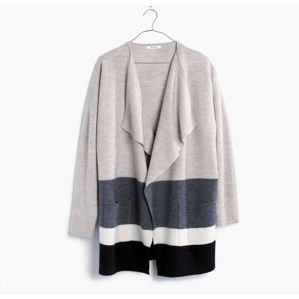 Madewell Clothing ($178) ❤ liked on Polyvore featuring tops, heather sable, color block tops, oversized tops, cocktail tops, holiday tops and white drape top