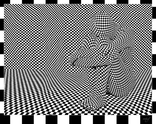 Optical Art Designs : Op art people: only checkers school and google