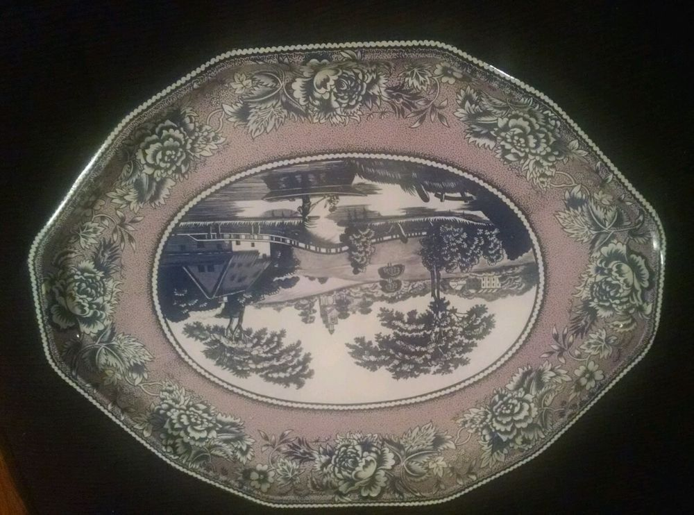 Daher Decorated Ware Tray Made In England Prepossessing Daher Decorated Ware Tin Platter Made In England Stamped Long Design Decoration