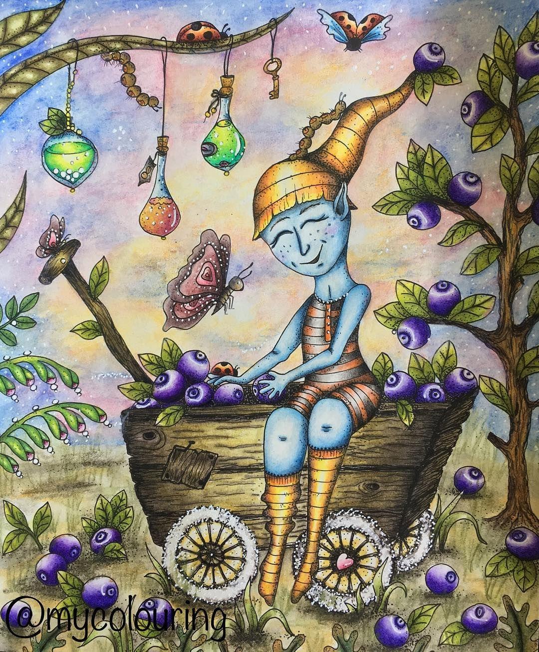 Such A Cute Pic Dw Inktense And Neocolor 2 For The Background Klaramarkova Klaramarkovajewels Carovnelahodnosti Magicaldelights Art Pics Coloring Books