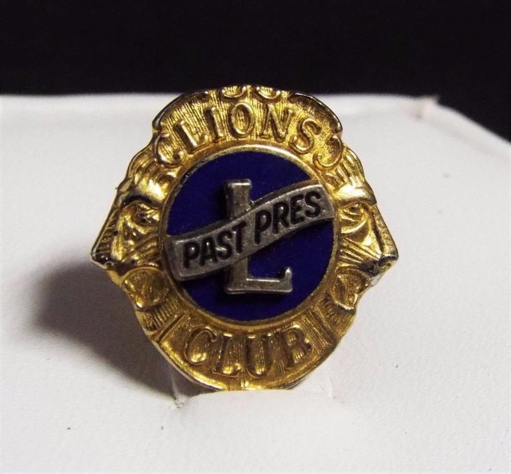 Lions Club Pin Vintage Past President 10k G F Gold Lapel Hat Tie Tac Past Presidents Lions Vintage [ 928 x 1000 Pixel ]