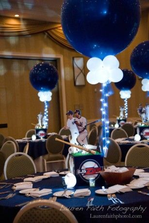 Sports Themed Centerpieces Yankees Themed Centerpiece Sports