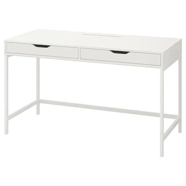 Alex Escritorio Blanco 131x60 Cm Ikea In 2020 White Desk With Drawers White Desks Ikea Alex Desk