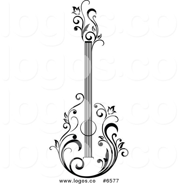 gallery for  u0026gt  acoustic guitar logo design