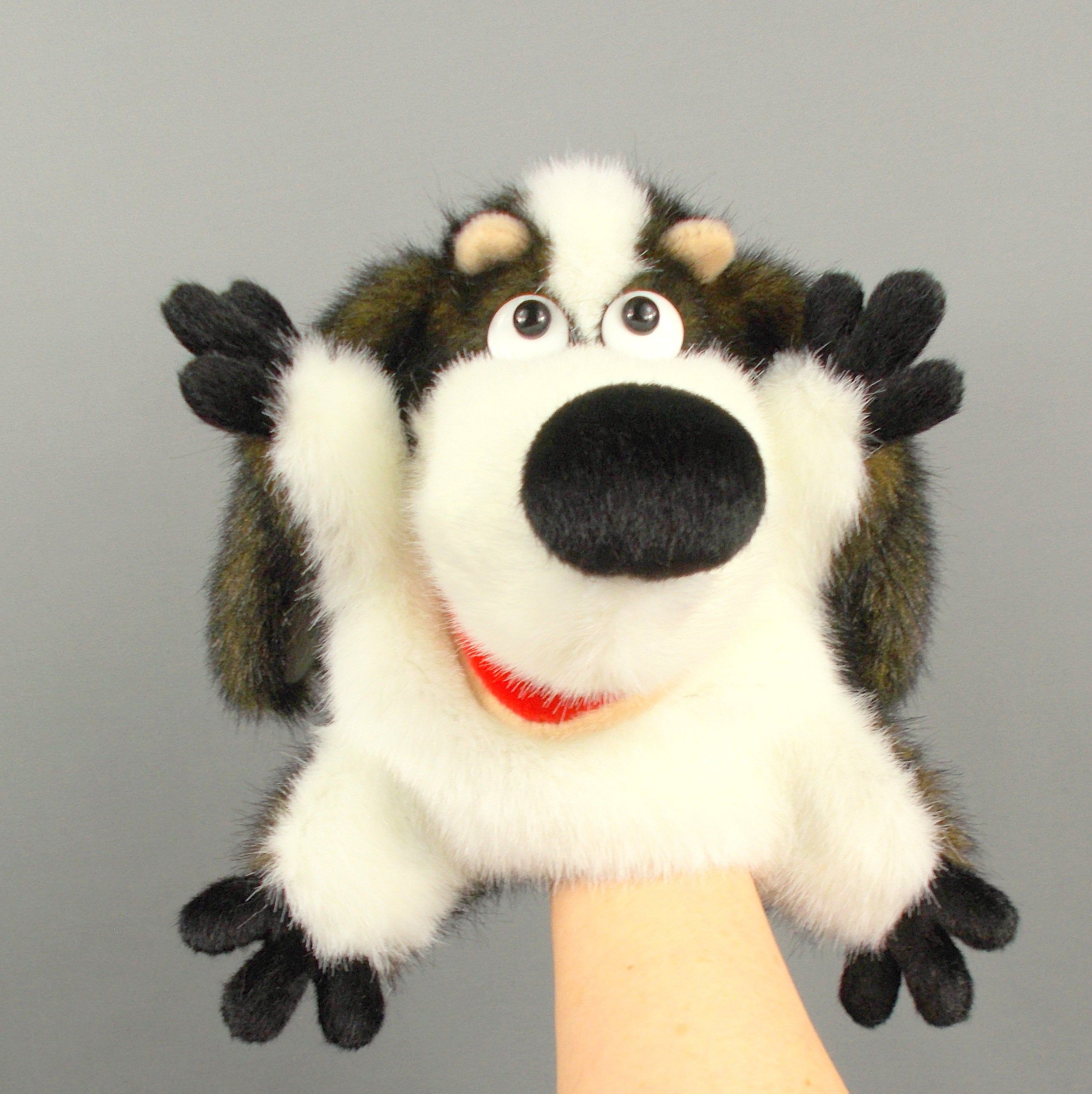 """12/"""" Soft Plush Doll Hand Puppet with Movable Mouth Kids Toy Christmas Gift"""