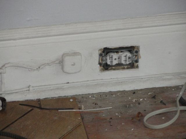 New 20 amp circuit to a new electrical outlet and box for the living ...