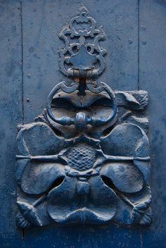 Door Door Decoration and Knocker, Pau, France by Peter Cook UK