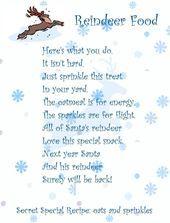 Reindeer Food Poem & Recipe,  #ChristmasEvepoem #Food #Poem #recipe #Reindeer #reindeerfoodrecipe