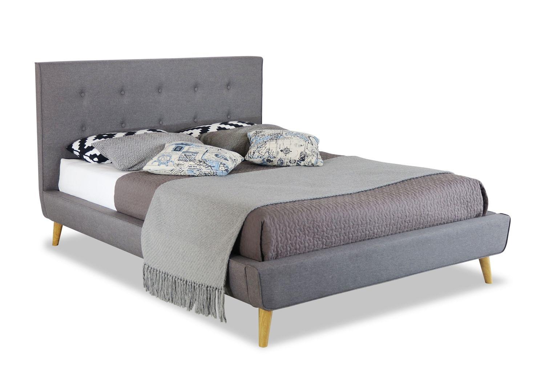 Grey Furntree Upholstered Bed Frame Temple & Webster
