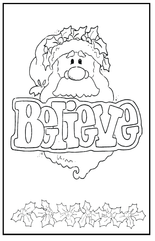 santa christmas card free download 1 2 3 learn curriculum - Coloring Christmas Cards 2
