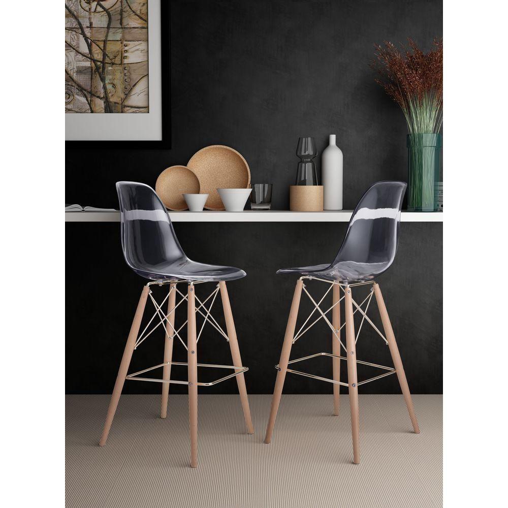 Shadow in natural clear bar stool transparentnatural u gold