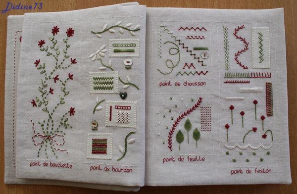 SAL mon cahier de broderie terminé -3  Embroidery Sample Book