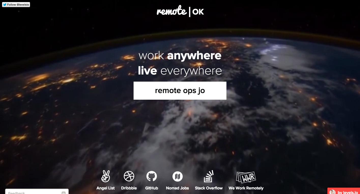 http://remoteok.io/  Work remotely.