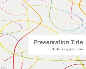 Color loose lines powerpoint template is a free abstract color loose lines powerpoint template is a free abstract powerpoint slide design with loose lines and toneelgroepblik Gallery