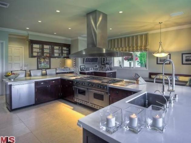 mark wahlbergs beverly hills home: chefs kitchen | dream kitchen