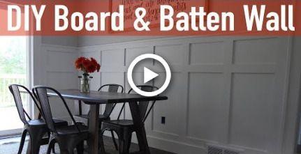 How to Install a Board and Batten Wall #boardandbattenwall