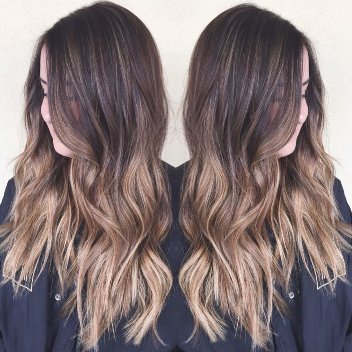 Out with ombré, in with sombré - a softer ombré with baby lights up top for a nice color melt!    #summer #hair #ombré #love #beauty #hairstyle #longhair #somebre