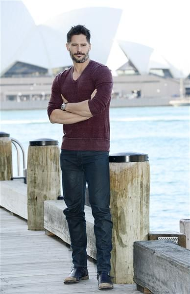 Check out that sexy, smoldering look! Hunky #JoeManganiello poses for a photo in Sydney. See more celebs on Wonderwall: http://on-msn.com/12nrzYi