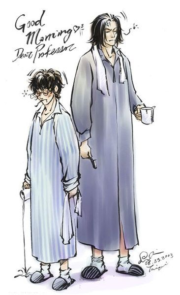 Snape And Harry By Somachiou On Deviantart Snape Harry Harry Potter Comics Harry Potter Severus Snape