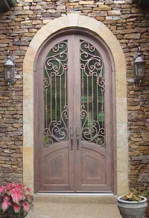 wrought iron Tuscan Doors | Double Iron Doors | Entry | Exterior | Front | Wrought & wrought iron Tuscan Doors | Double Iron Doors | Entry | Exterior ...
