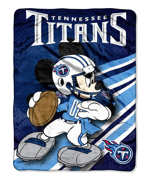 Take a look at this Mickey Mouse Tennessee Titans Throw I bought at zulily today!