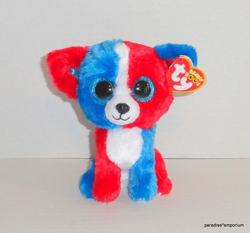 New Ty Beanie Boos 6 Valor Plush Patriotic Dog Cracker Barrel