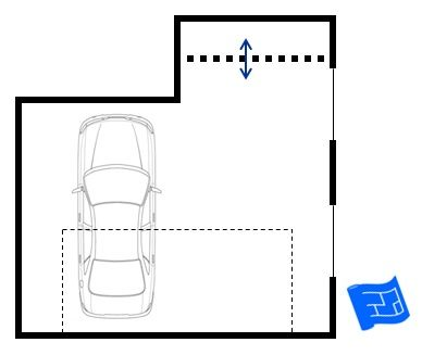 A Garage Floor Plan With A Storage Alcove To The Rear Click Through For More On Garage Design And Home Design Garage Floor Plans Garage Floor Garage Design