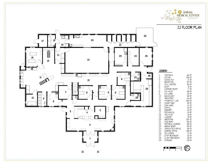 Animal Medical Center Of Middletown In Louisville Kentucky First Floor Hospital Design Arquitetura