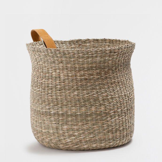 Round basket with a handle baskets decoration zara - Cestos zara home ...