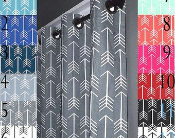 Blackout Lined ARROW Curtains   FREE SHIPPING   2 Curtain Panels   Nursery  Curtains   Navy