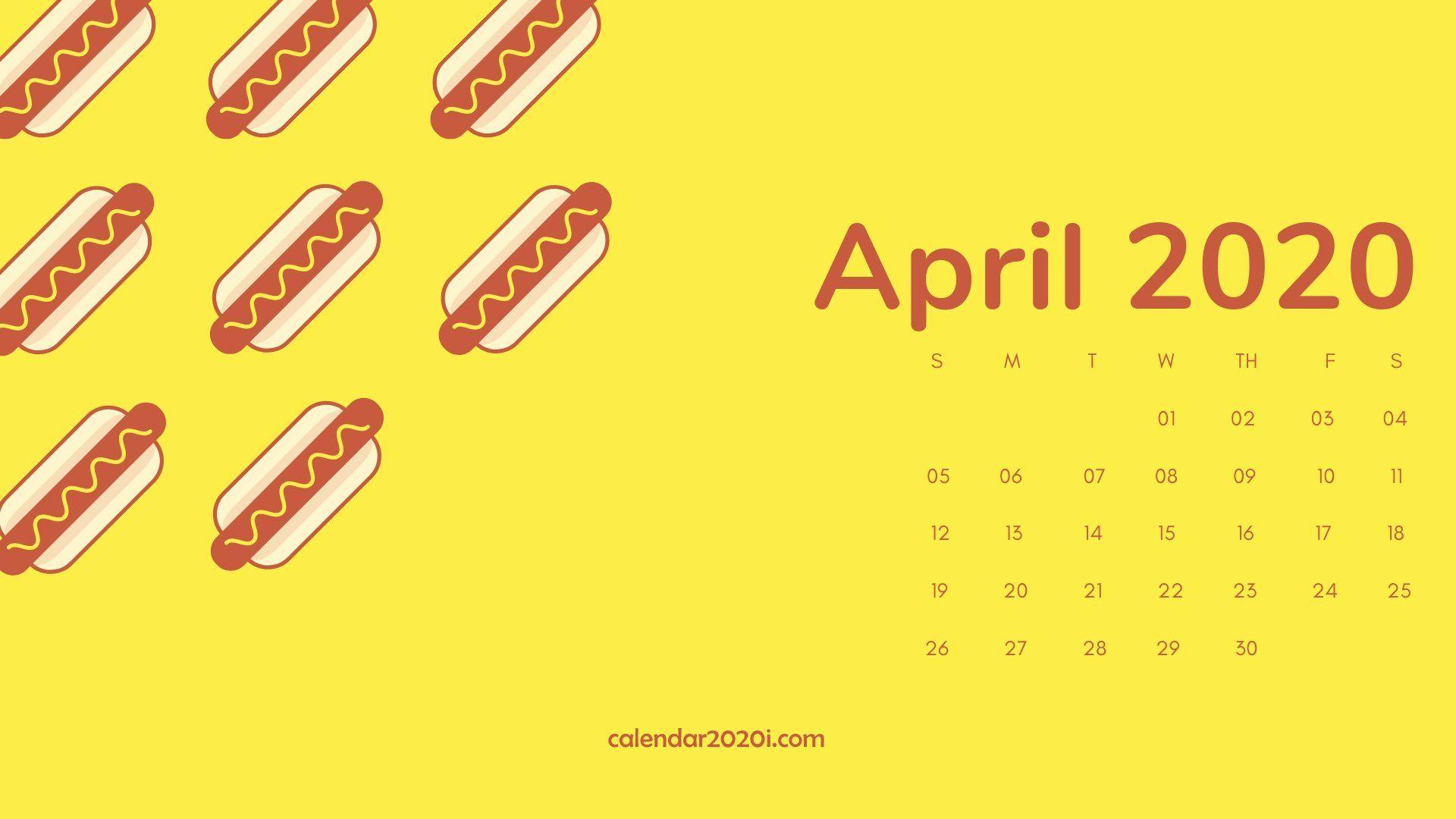 April 2022 Wallpaper Calendar.April 2020 Calendar Desktop Wallpaper