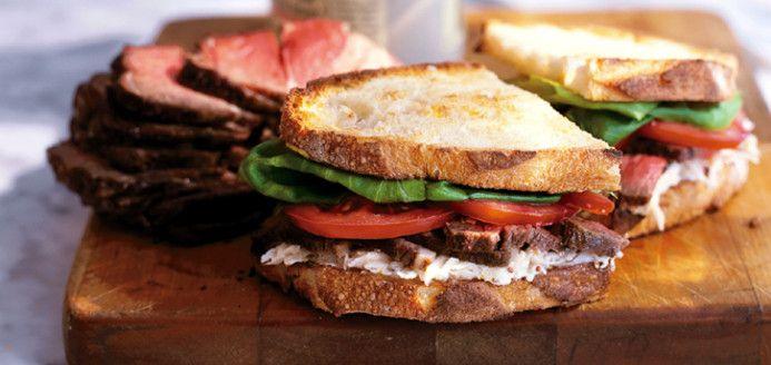 Sandwich au r ti de boeuf et salade r moulade recette popote et gourmandises roast beef - Cuisiner un roti de boeuf au four ...