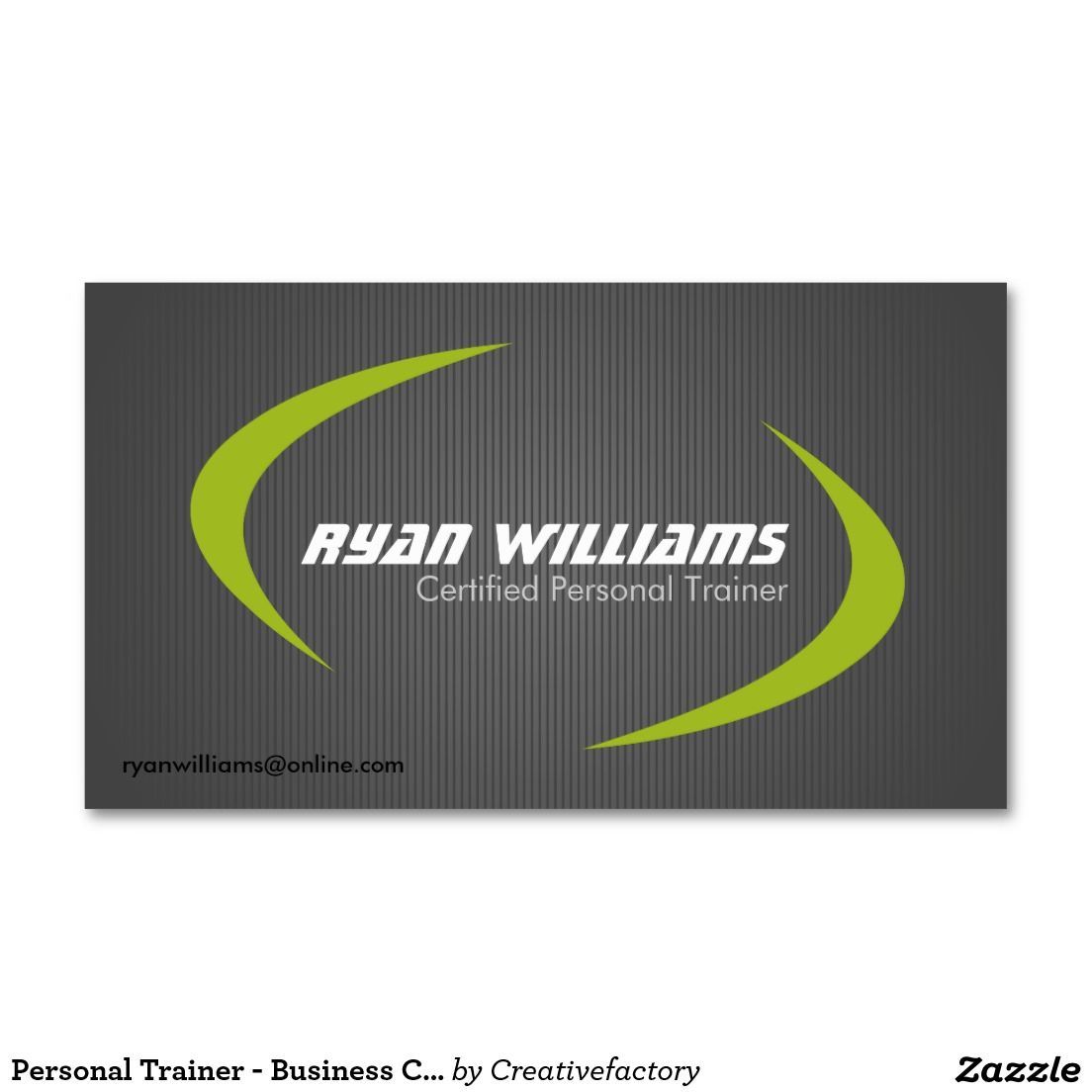 Personal Trainer - Business Cards   Personal trainer, Business cards ...
