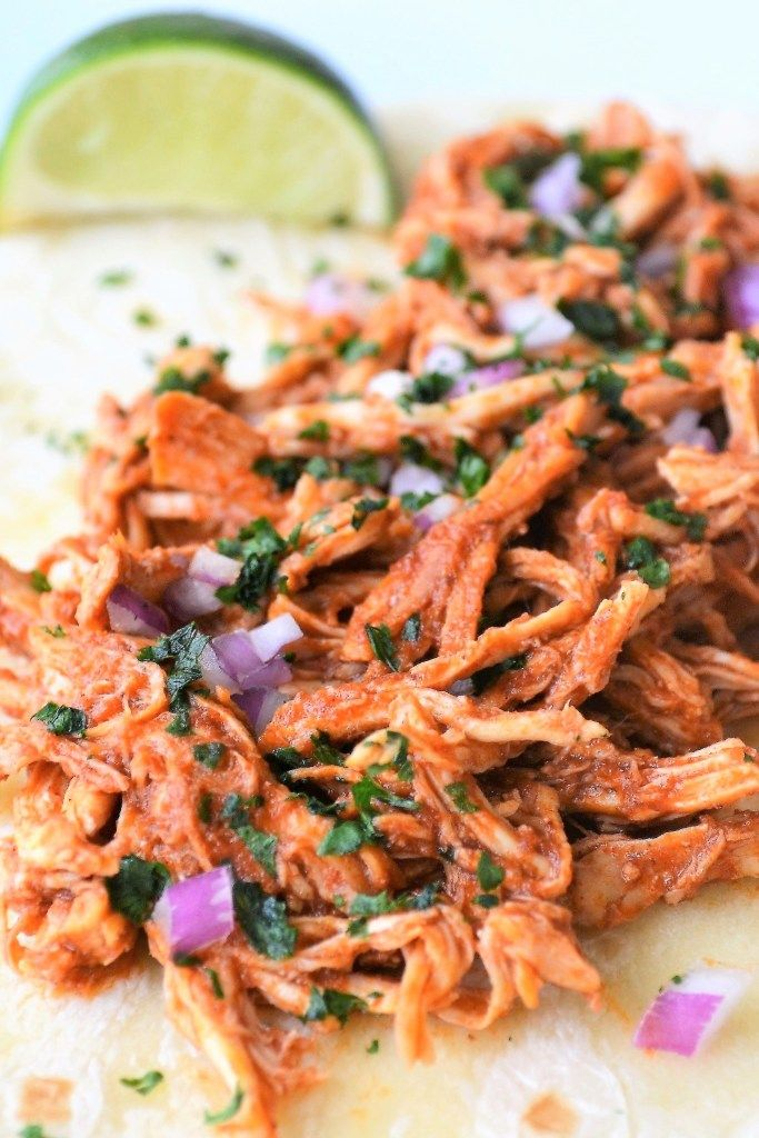 Slow Cooker Shredded Mexican Chicken Recipe - Sum of Yum
