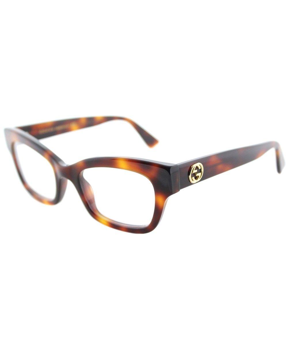 f040386572f GUCCI Gg0031o 002 Havana Cat-Eye Eyeglasses.  gucci