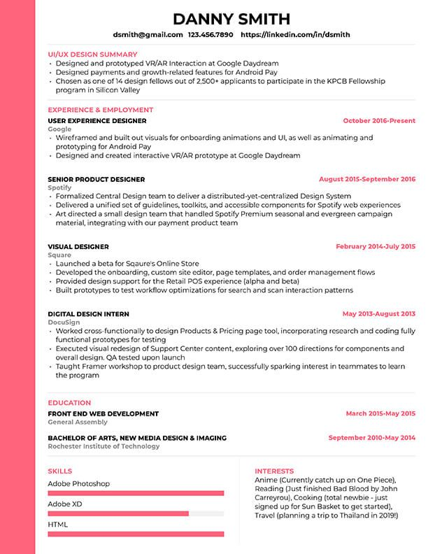 Free Resume Templates for 2020 [Edit & Download   Resume ...