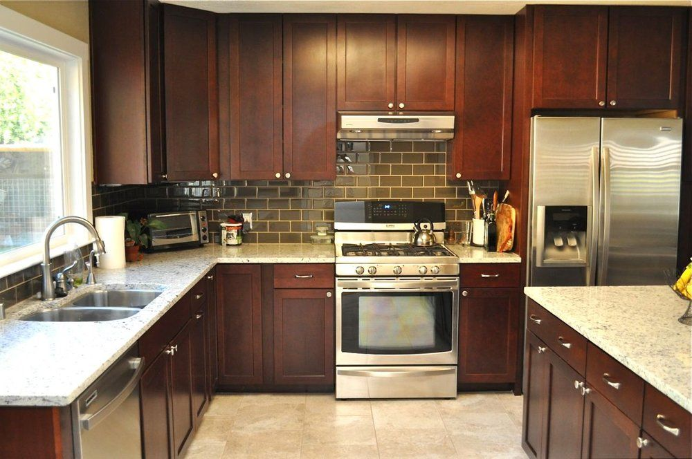 Kitchen Floor And Subway Tile Backsplash Glass Tile Install Is Perfect My Place Subway Tile Backsplash Kitchen Stone Kitchen Floor Kitchen Tiles Backsplash
