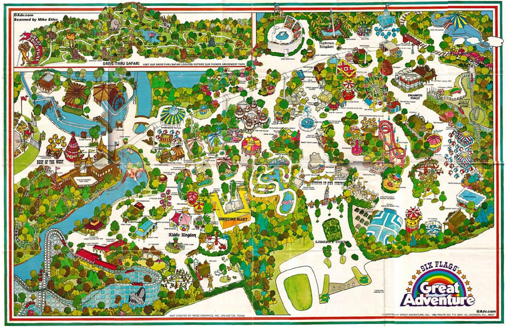 Six Flags Nj Map Great Adventure, Jackson, NJ | Growing Up 80s in 2019 | Six flags