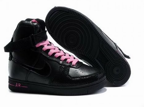 Nike Air Feather High Black Pink Click Image to Close