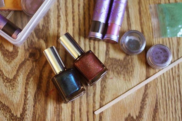 Eye shadow nail polish!